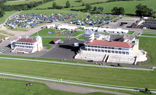 Towcester from the air, Saturday afternoon.